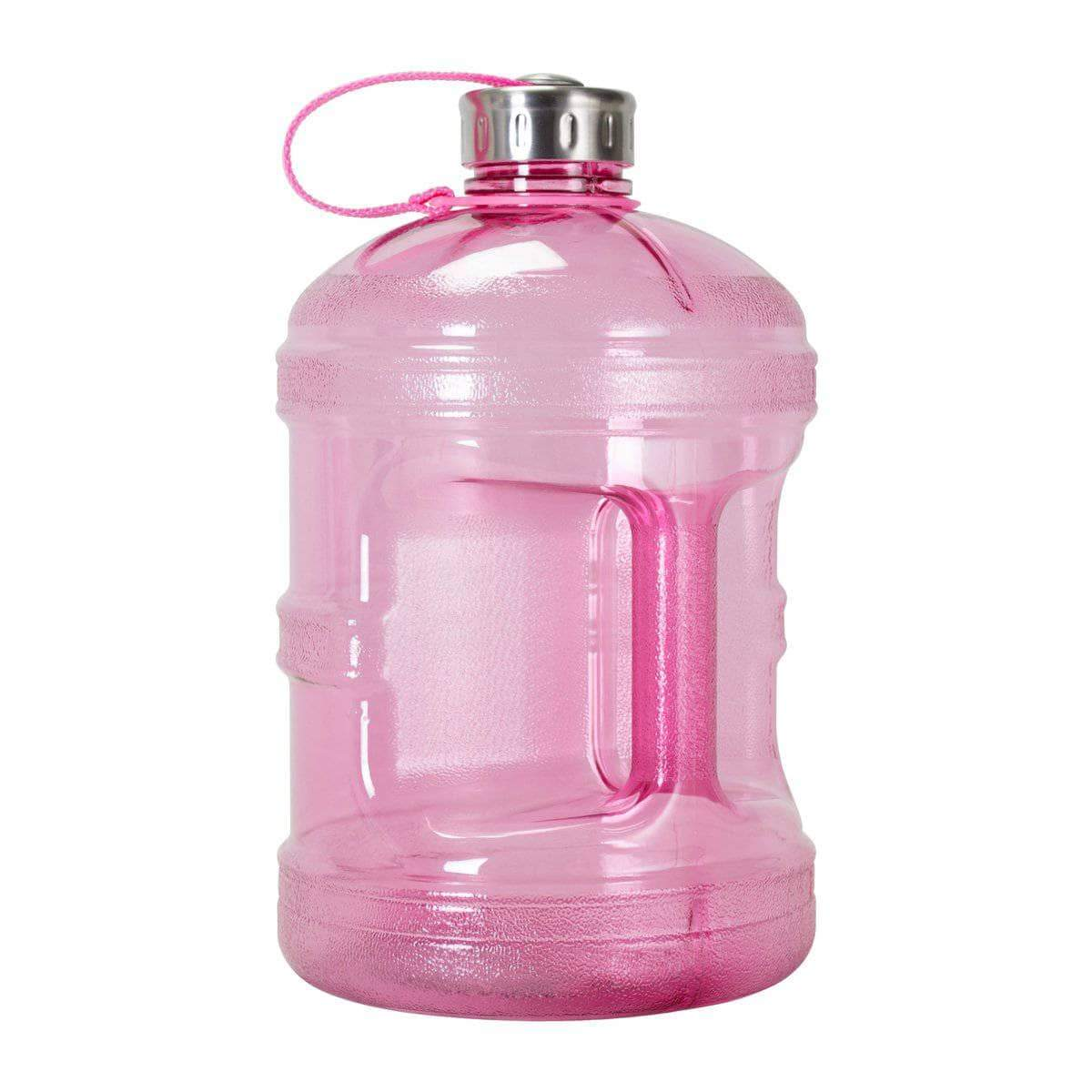 GEO Bottles Pink 1 Gallon BPA FREE Bottle w/ Stainless Steel Cap