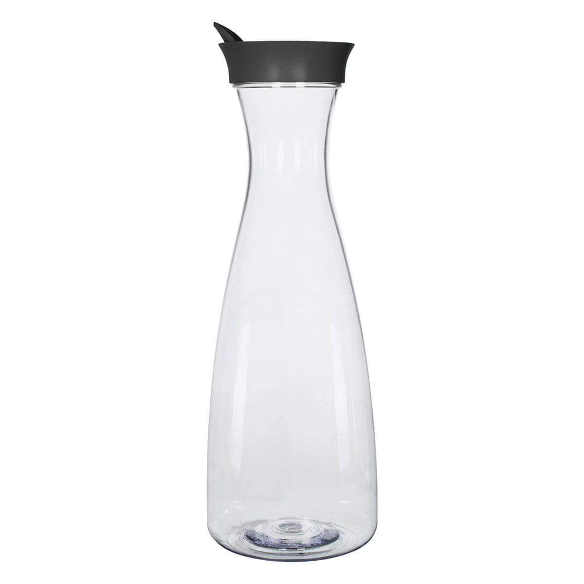 Geo Bottles Pitchers Black 1.5 Liter (50 oz.) BPA FREE Plastic Carafe Pitcher Decanter Jug with Green Lid