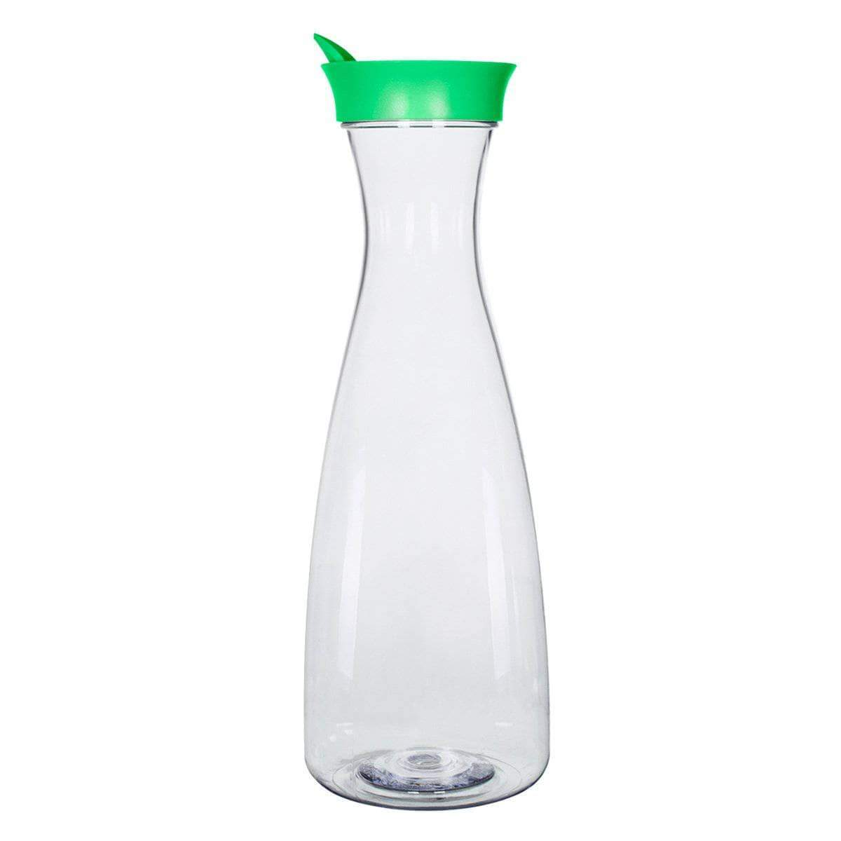 Geo Bottles Pitchers Green 1.5 Liter (50 oz.) BPA FREE Plastic Carafe Pitcher Decanter Jug with Green Lid