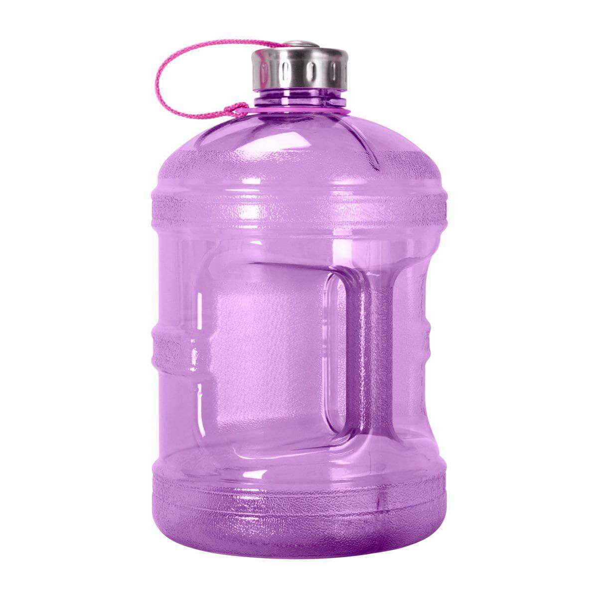 GEO Bottles Purple 1 Gallon BPA FREE Bottle w/ Stainless Steel Cap