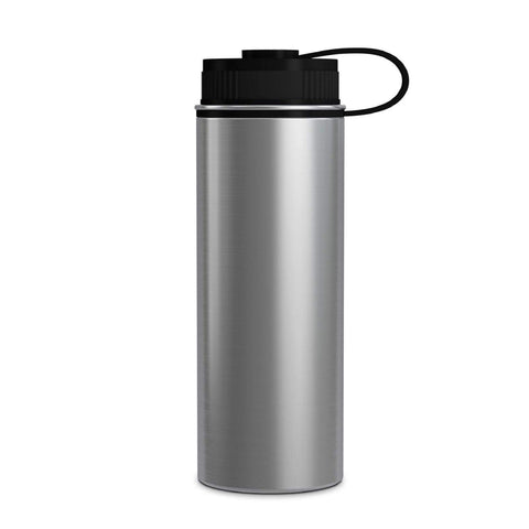 Geo Bottles Stainless Steel 18oz Double Wall Vacuum Insulated Flask, Wide Mouth