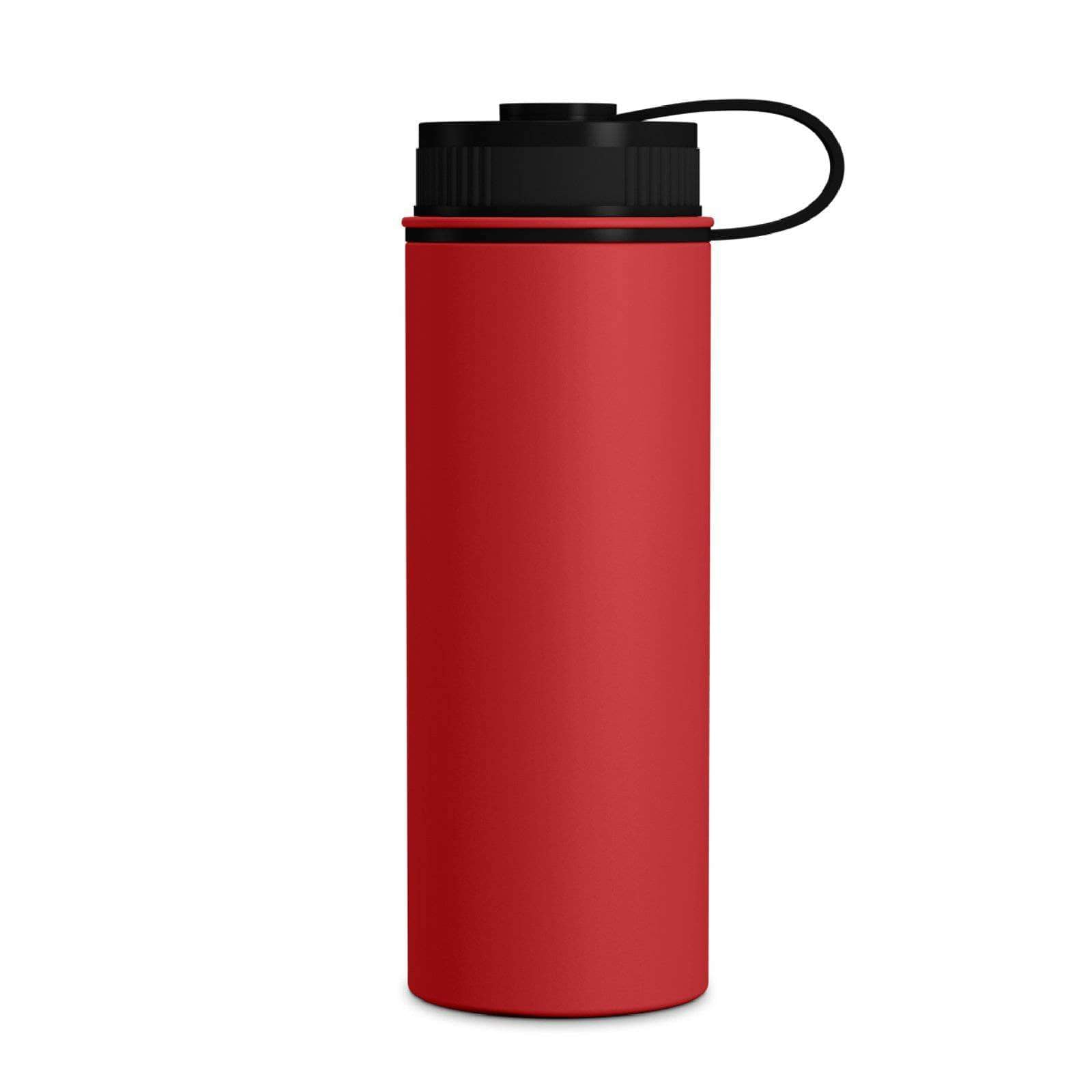 Geo Bottles Warm Red 18oz Double Wall Vacuum Insulated Flask, Wide Mouth