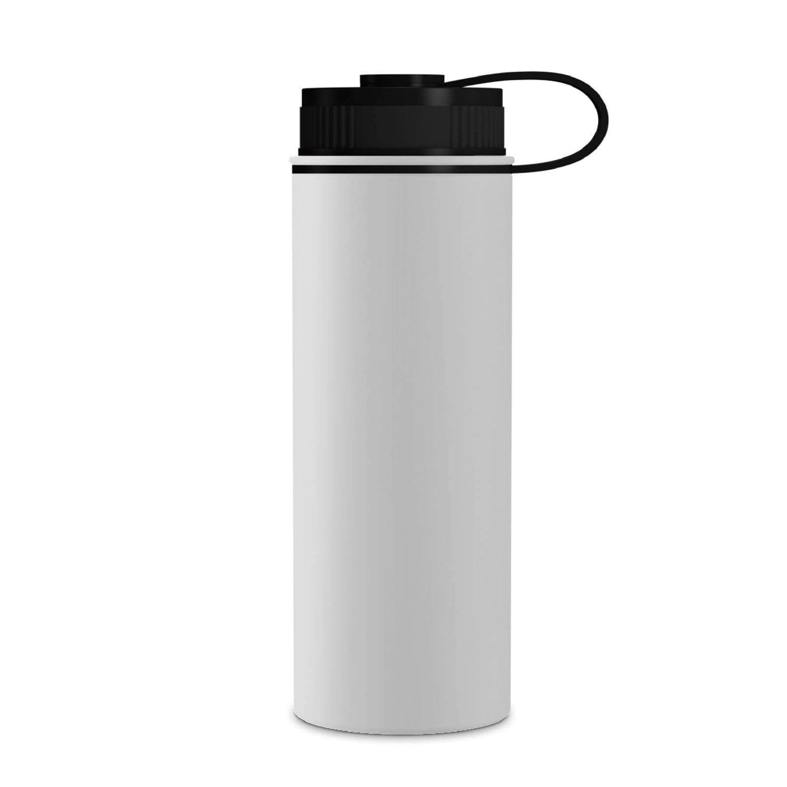 Geo Bottles White 18oz Double Wall Vacuum Insulated Flask, Wide Mouth