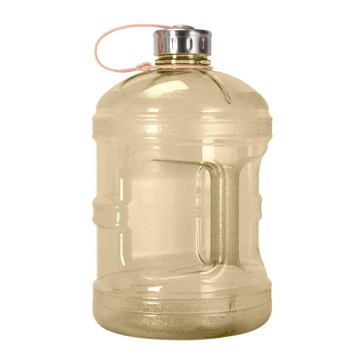 GEO Bottles Yellow 1 Gallon BPA FREE Bottle w/ Stainless Steel Cap
