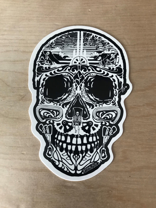 Stone Age Sugar Skull Sticker