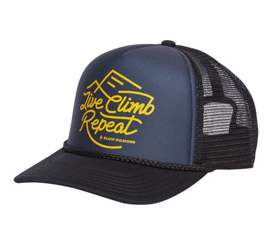 Black Diamond Flat Bill Trucker