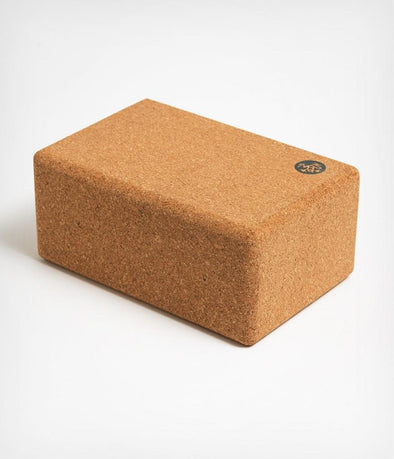 "Manduka Cork Yoga Block,  4"" x 6"" x 9"""