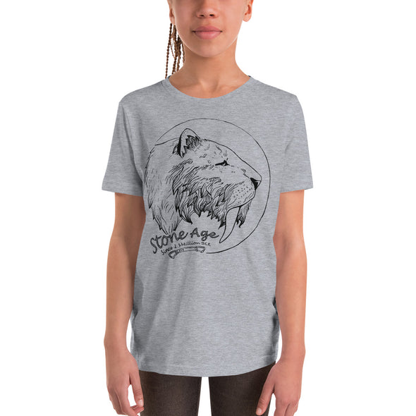 Stone Age Youth Sabertooth T-Shirt - Print on Demand