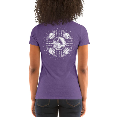 Stone Age Women's Zia Skeleton T-shirt - Print on Demand