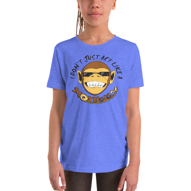 Stone Age Youth Monkey T-Shirt - Print on Demand