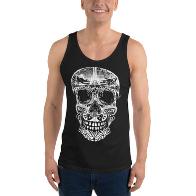 Stone Age Men's Sugar Skull Tank Top -Print on Demand