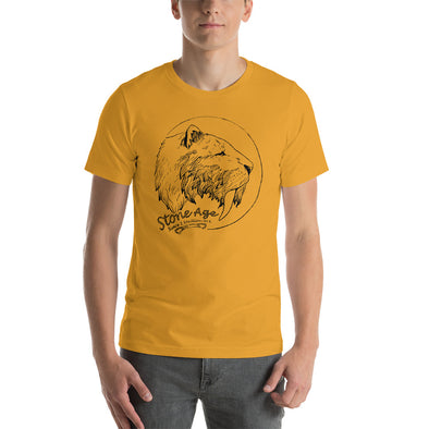 Stone Age Men's Sabertooth T-shirt - Print on Demand