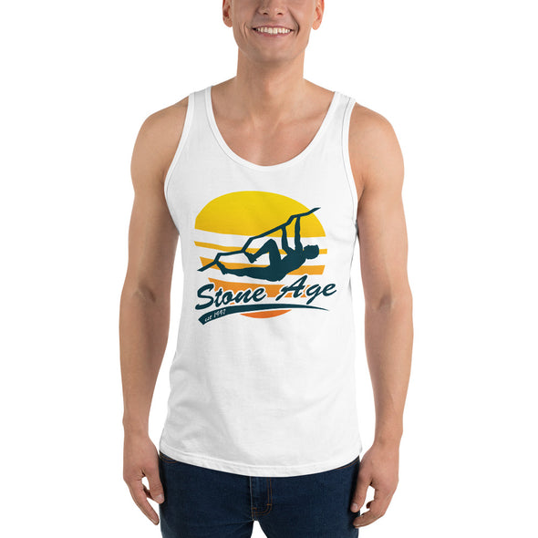 Stone Age Men's Retro Logo Tank Top - Print on Demand