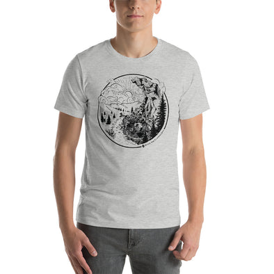 Stone Age Men's Yin Yang T-Shirt - Print on Demand