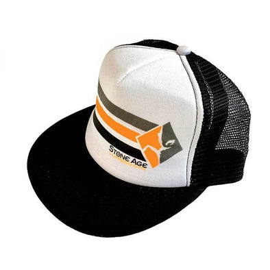 Stone Age racing stripe logo trucker hat