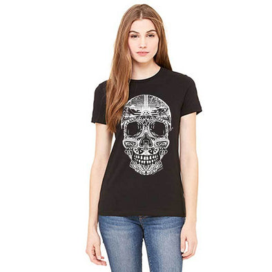 Women's Sugar Skull Shirt - Black