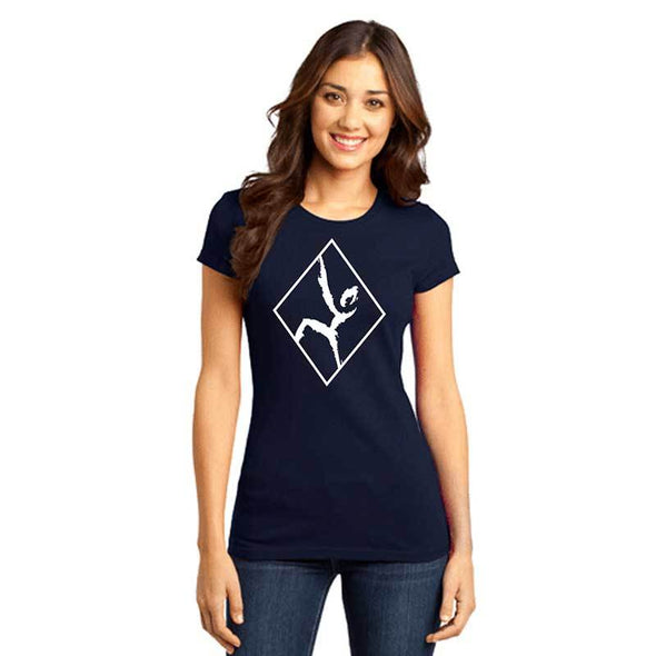 Women's navy outlined climber t shirt