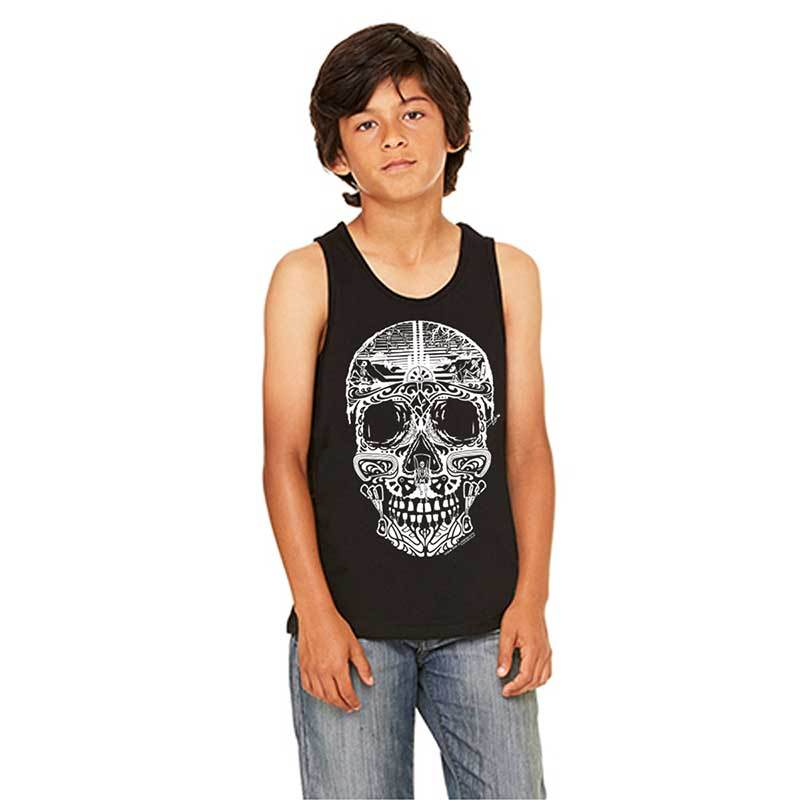 Youth Sugar Skull Tank Black Shop Stone Age