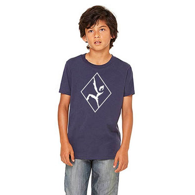 Youth Outlined Climber Shirt - Navy