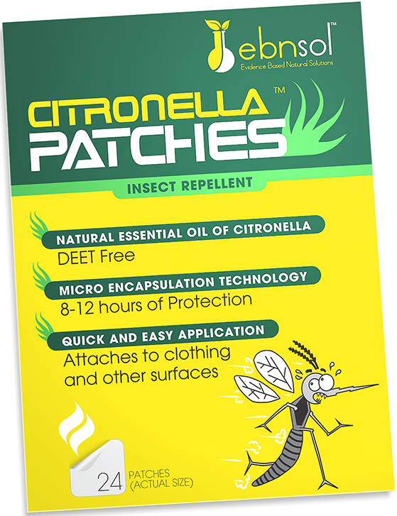Ebnsol Citronella Patches Mess Free Ebnsol Inc 24 on Film ~ DEET Free Safe for Kids ~ Lasts Up to 12 Hours ~ No Contact with Skin by Inc 3-Pack Natural Mosquito Repellent and Flying Insect Repellent
