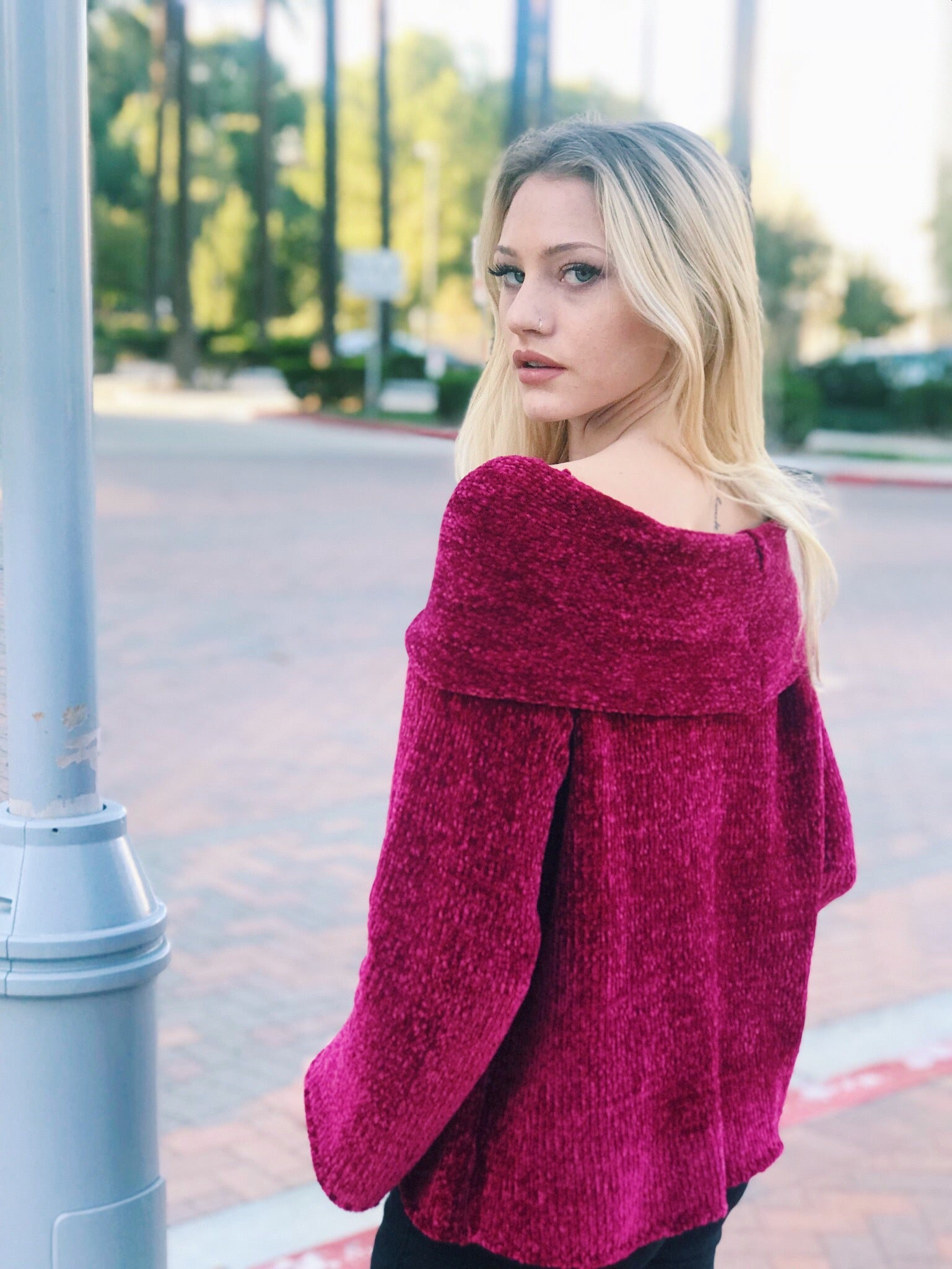 The Tori Off The Shoulder Knit Sweater