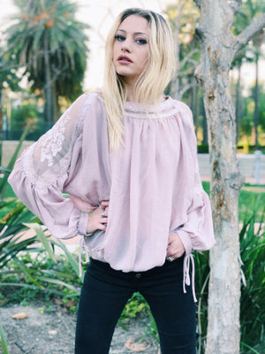 My Sweet Valentine Lace Cold Shoulder Blouse