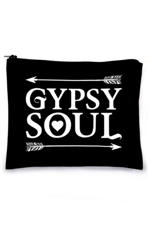 Gypsy Soul Make Up Bag - Black
