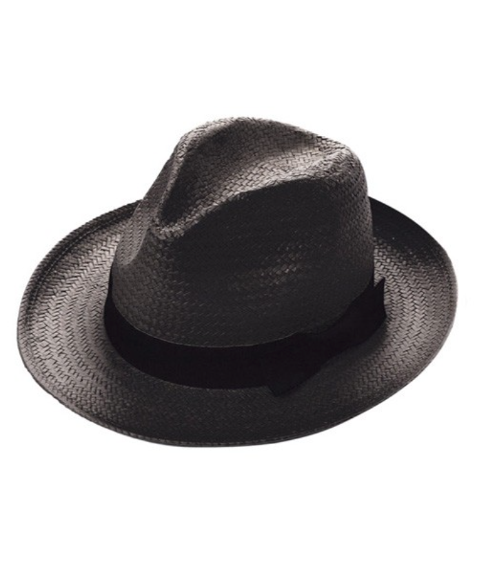 The Jessa Classic Straw Fedora - Black