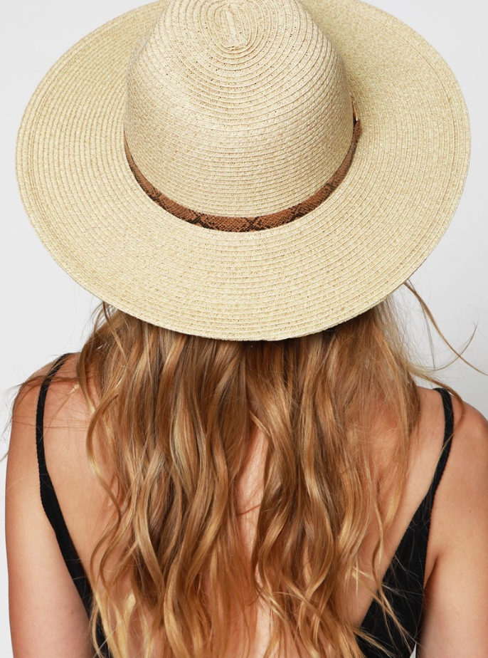The Rita Wide Brim Panama Hat - Dark Natural