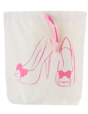 Fashionista Babe Canvas Shoe Bag