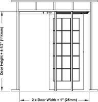 2650 Series Double Pocket Door Kits