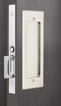 Dummy Set: Modern Emtek Heavy Duty Pocket Door Mortise Lock Set