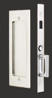 Passage Set: Modern Emtek Heavy Duty Pocket Door Mortise Lock Set