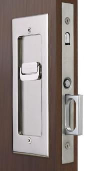 Privacy Set: Modern Emtek Heavy Duty Pocket Door Mortise Lock Set