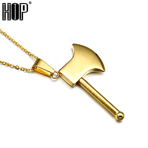 Knot Hatchet Pe Fire AXE Pendant Necklaces for Men Jewelry