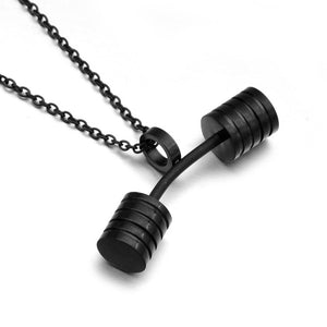 Dumbbell Necklaces For Men Jewelry