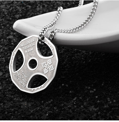 Premium Gym Plate Pendant Necklace
