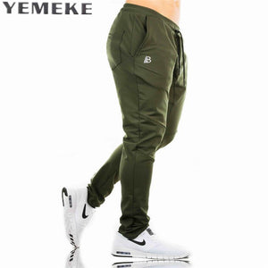 MUSCLE FITNESS MENS LONG PANTS NEW CASUAL COTTON