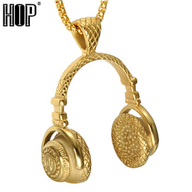 Headphones Pendants Necklaces for Men Jewelry