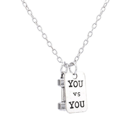 BODYBUILDING MOTIVATIONAL NECKLACE