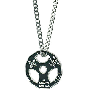 Be Strong Not Fat -Weight Plate Necklace