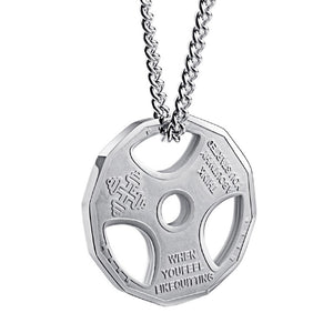WEIGHT PLATE PENDANT NECKLACE STAINLESS