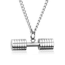 Stainless Steel Dumbbell Big Punk Jewelry