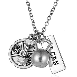 Gym Necklace For Women Men Jewelry Gift Bodybuilding Necklaces & Pendants 2017