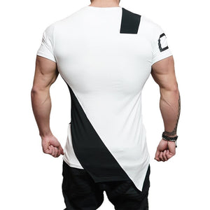 Patchwork T-shirt Bodybuilding  Workout