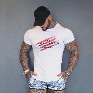 Fitness T Shirt Men Cotton O-neck