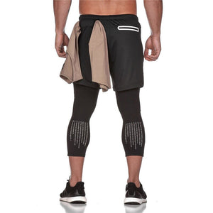 2019 New Sporting Pants Men Elastic Breathable double-deck Trousers
