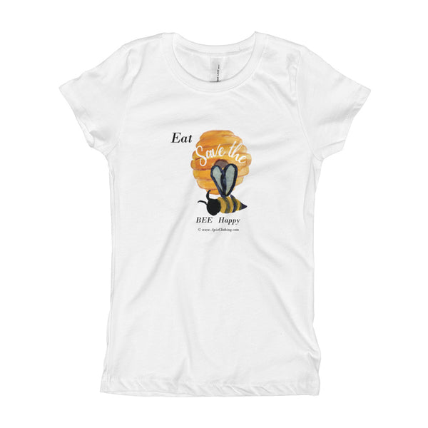 Girl's T-Shirt Eat Honey, Be Happy