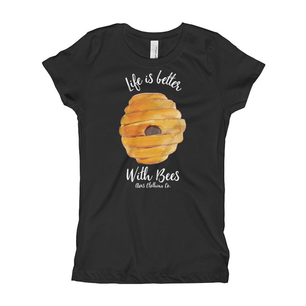Girl's T-Shirt - Life Is Better With Bees...