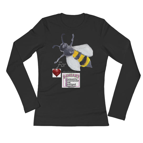 Ladies' Long Sleeve T-Shirt Bee 4 HEART